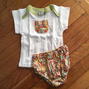 Adorable T-shirt, diaper cover & gift bag. NWT